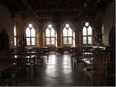 St. Donat's Castle, Wales. Dining hall