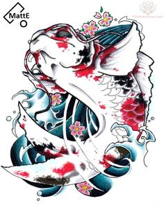 girly koi fish tattoos ideas