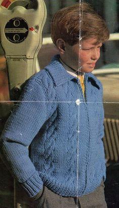 1960s Vintage Boy's Cardigan Knitting by VeryVintageKnitting, £0.99