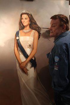 Cowan paints the Duchess of Cambridge Princesa Kate, Diana Spencer, Windsor, Duchesse Kate, Princesse Kate Middleton, Prinz Philip, British Royal Families, Prince William And Catherine, Royal Weddings