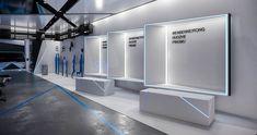 FRONTOP:项目记录 空间 展示设计  Auerh - 原创作品 - 站酷 (ZCOOL) Exhibition Stall, Exhibition Stand Design, Exhibition Display, Display Design, Store Design, Museum Displays, Hall Design, Display Shelves, Office Interiors