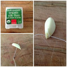 DON'T BE GROSSED OUT - it works >> garlic kills yeast, it's true (photo via lindsayleighbentley.com)