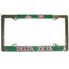 Delta Zeta Sorority License Plate Frame $14.95