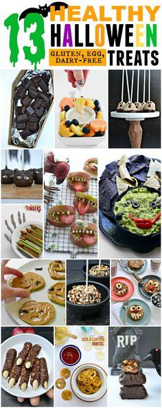 13 HEALTHY gluten, egg, and dairy-free Halloween Treats