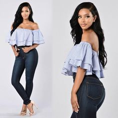 """❤️RESTOCK ALERT❤️⠀⠀ Search: """"Ruffled Around You Top""""⠀ Search: """"Classic High Waist Skinny Jeans""""⠀ Search: """"Flame Heels""""⠀ ✨www.FashionNova.com✨ #fashion #stylish #outfitoftheday #instafashion #swag #model #dress #styles #outfit #purse #jewelry #shopping #glam #instastyle #style #outfitoftheday #guy #boy #boys #man #model #swagger #cute #photooftheday #jacket #mensstyle #shoplocal #yvr #vancouver #8thmain #internationalmodel #underarmour #instalike #dubai #malemodel #milan #international…"""
