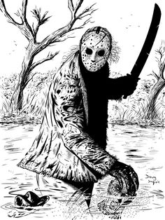 Freddy Vs Jason Vs Michael Art