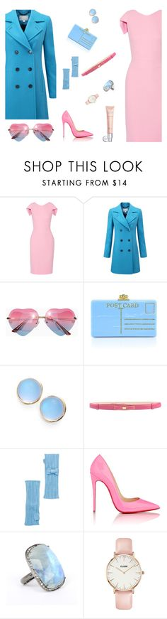 """outfit new set waw22"" by dorachelariu ❤ liked on Polyvore featuring Antonio Berardi, Pure Collection, Edie Parker, Alexis Bittar, Moschino Cheap & Chic, Portolano, Christian Louboutin, ADORNIA, CLUSE and Christian Dior"