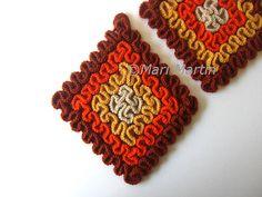 DIY PDF Pattern Crochet Pot Holder Granny Square . Decor Crochet Kitchen Tutorial Original Yellow Orange Terracotta. $4.00, via Etsy.