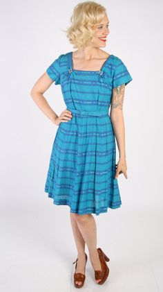 1950s Dress // vintage 50s dress // Our Song by dethrosevintage, $88.00