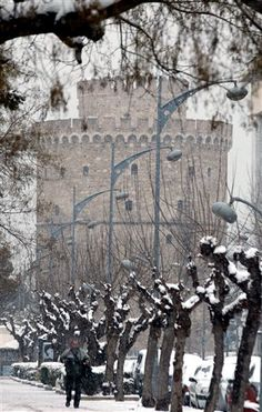 The Queen of the North, draped in Snow, Thessaloniki, Salonica, Greece Macedonia, Great Places, Places To Visit, Greece Travel, Countries Of The World, Beautiful Islands, Castle, Around The Worlds, City