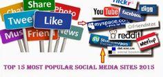 Top 15 Most Popular Social Media Sites 2015