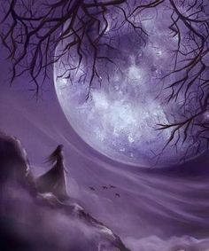 Full Moon Magick for Beginners and Pros Moon Witch, Moon Magic, Beautiful Moon, Purple Haze, Lilac, Purple Colors, Purple Glitter, Periwinkle, Dark Purple