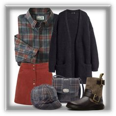Plaid & Corduroy by bren-johnson on Polyvore featuring H&M, Miss Selfridge, Dr. Martens, women's clothing, women's fashion, women, female, woman, misses and juniors
