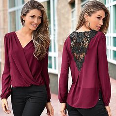 >> Click to Buy << Sexy Fashion Women V-neck Tops Tee Long Sleeve Shirt Casual Blouse Loose  #Affiliate