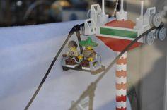 lego ski lift - close up