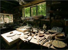 Crow-House-Pottery-Studio- Henry Varnum Poor's studio