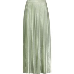 Adam Lippes - Pleated Metallic Silk-blend Maxi Skirt (€270) ❤ liked on Polyvore featuring skirts, bottoms, mint, green pleated skirt, long green skirt, mint green long skirt, long skirts and metallic skirt