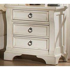 Heirloom Nightstand in Antique White   Nebraska Furniture Mart