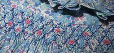 bleu japonais - kankan&co Smocks, Liberty Print, Smock Dress, City Photo, Fashion Dresses, Blue Diamonds, Smocked Dresses, Embroidery, Point