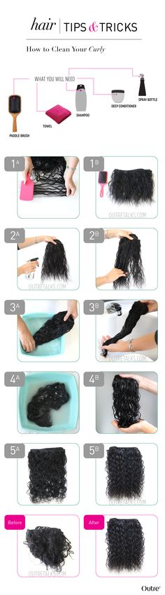 How To: Clean Your Curly Weave Let's talk about curly hair. Due to the many twists and turns of curly textured hair, curly weaves...