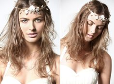 Country Wedding Hairstyles To The Side Side braiding long loose brown
