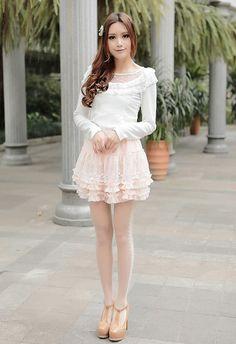 Mango Doll - Pink Layered Ruffle Skirt, $36.00 (http://www.mangodoll.com/all-items/pink-layered-ruffle-skirt/)