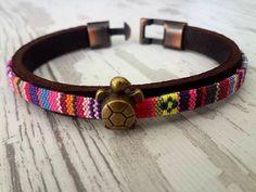 Turtle BraceletHandmade Bracelet Minimal Leather by tovvanda