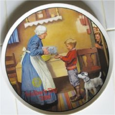 Norman Rockwell Collector Plate The Pantry Raid by GranVintage