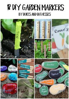 DIY garden marker ideas