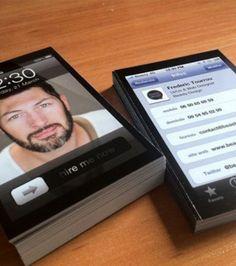 Ce web designer a décidé de se confectionner une carte de visite en forme d'iPhone. Genius!
