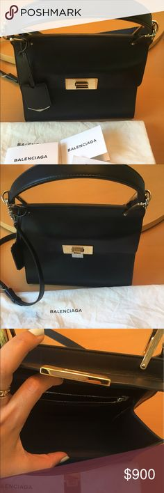 Balenciaga bag This classy bag is brand new. Was only used once and the tag is still on on the inside! Balenciaga Bags Crossbody Bags