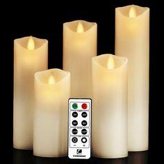 60 Large Big 8cm Floating White Wax Candle 6-7 burn hour wedding party birthday