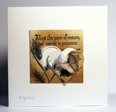 Using both the negitve and positive of the die cut.