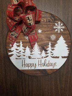 Christmas Crafts To Make, Christmas Signs, Christmas Art, Christmas Projects, Holiday Crafts, Christmas Wreaths, Christmas Bulbs, Christmas Decorations, Christmas Ideas