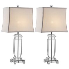 Olympia Clear Table Lamp Set of 2.  #laylagrayce