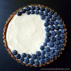 A beautiful, raw blueberry tart and other delicious recipes for Ramadan