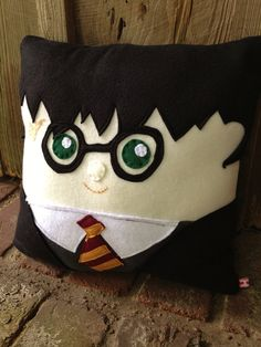 Cuddly Harry Potter Pillow Harry Potter by startrails on Etsy
