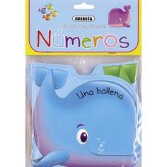 Un, dos, tres.. ¡Splash!- Números, Un divertido libro de baño para que aprendas los colores.
