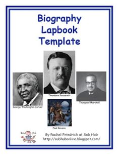 How About a Biography Lapbook Template?