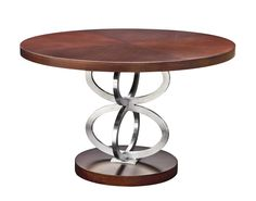 Stainless steel and wood table from Samuelson Furniture