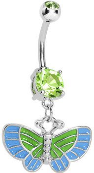 #Body Candy               #ring                     #Peridot #Aqua #Playful #Butterfly #Belly #Button #Ring #Body #Candy #Body #Jewelry                     Peridot and Aqua Playful Butterfly Belly Button Ring   Body Candy Body Jewelry                                                    http://www.seapai.com/product.aspx?PID=1195148
