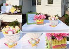 Easter decor.  I love the vase idea!