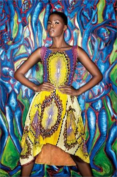 Vanity Fair Italia La Moda Che Arriva Dall'Africa (Fashion That Comes From Africa) African Print Dresses, African Dresses For Women, African Women, African Prints, African Attire, African Inspired Fashion, African Print Fashion, Africa Fashion, African Textiles