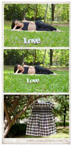 Fotografia de gestantes no parque: love, love.