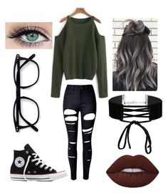 """""""Untitled #128"""" by theunknown6245 on Polyvore featuring WithChic, Converse, Lime Crime and Miss Selfridge"""