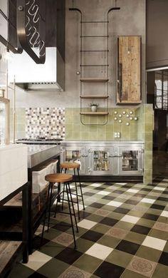 El verde como protagonista de tu cocina, una selección con bellos ejemplos (via Bloglovin.com )
