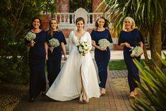 Simple and beautiful. Navy Bridesmaid Dresses, Wedding Dresses, Lake Garda Wedding, Portrait Photography, Wedding Photography, Relaxed Wedding, Elegant Bride, Elope Wedding, Couples In Love