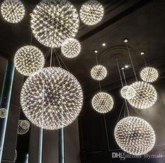 Moooi Raimond Suspension Pendant Lamps Moooi Chandelier Series Stainless Steel Pendant Light Spark Droplight Diameter 45/65/90/200cm From Flymall, $389.53 | Dhgate.Com
