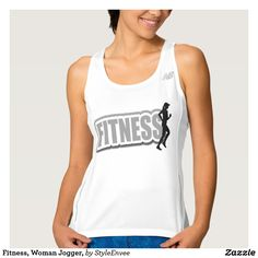 Fitness, Woman Jogger, Tank Top