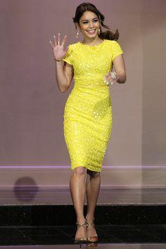 Gorgeous yellow dress [Vanessa Hudgens]